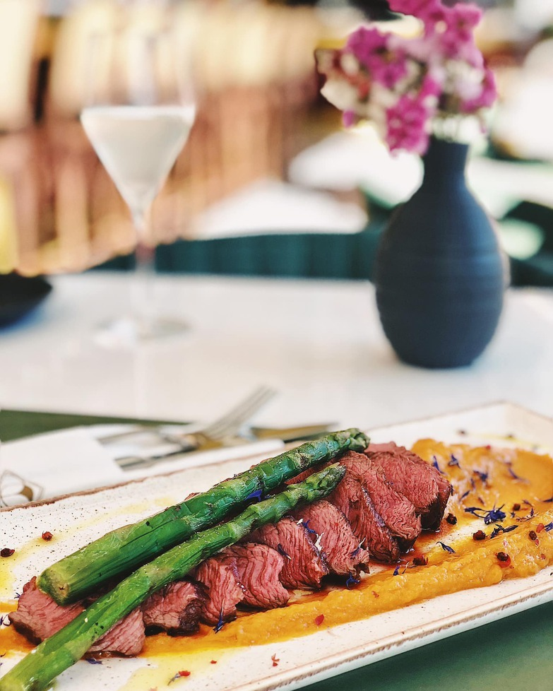 Our famous Beef Tagliata and a glass of wine is all you need
