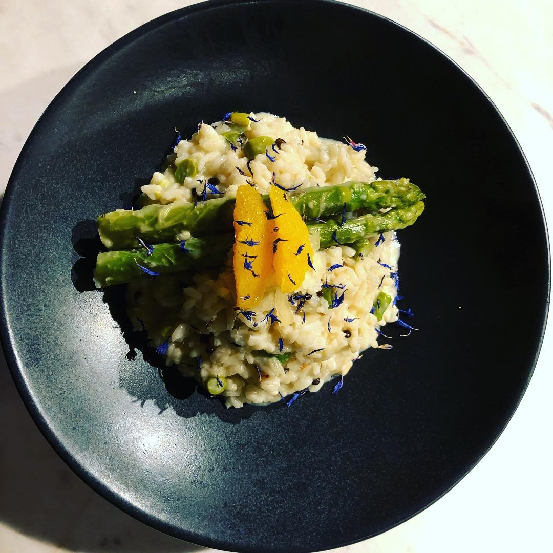 RISOTTO WITH GREEN SPARGING